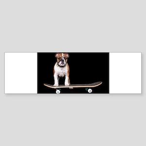 Skateboard Bulldog Sticker (Bumper)