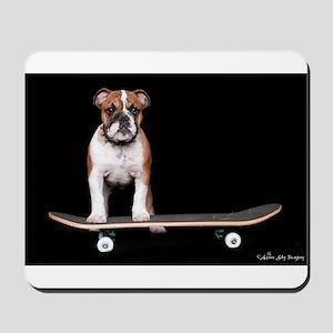 Skateboard Bulldog Mousepad