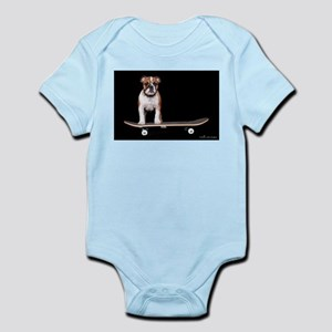 Skateboard Bulldog Infant Bodysuit