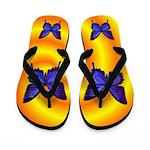 Purple Butterfly Flip Flops