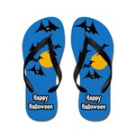 Scary Bat Flip Flops