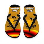 Happy Halloween Bat Flip Flops