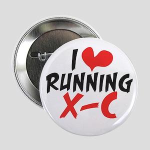 "I heart (love) running XC 2.25"" Button"