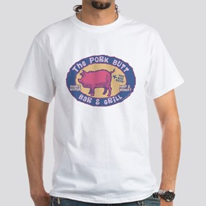 The Pork Butt Bar White T-Shirt