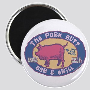 The Pork Butt Bar Magnet