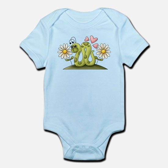 Lovey Inchworm Infant Bodysuit