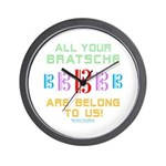 All Your Bratsche are Belong to Us Wall Clock