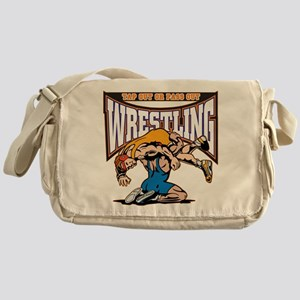Tap Out or Pass Out Wrestling Messenger Bag