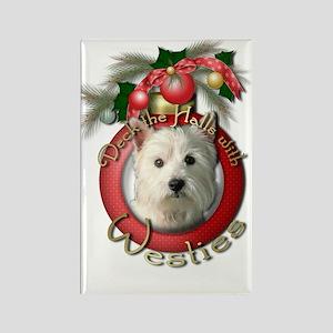 Christmas - Deck the Halls - Westies Rectangle Mag