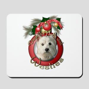 Christmas - Deck the Halls - Westies Mousepad