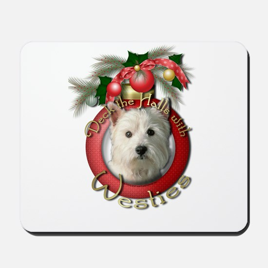 Christmas - Deck the Halls - Westies Mousepad