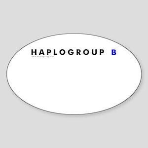 Haplogroup B Oval Sticker