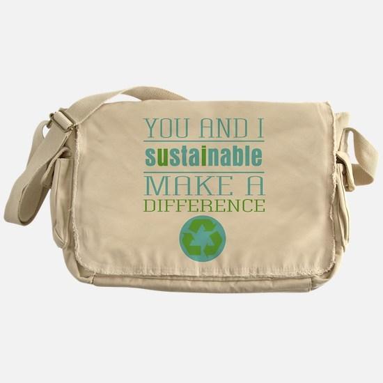 You and I Sustainability Messenger Bag