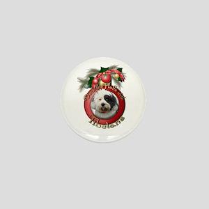 Christmas - Deck the Halls - Tibetans Mini Button