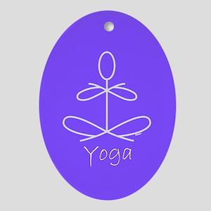 Yoga in Purple Ornament (Oval)