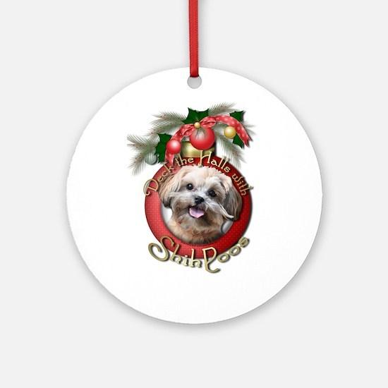 Christmas - Deck the Halls - ShihPoos Ornament (Ro