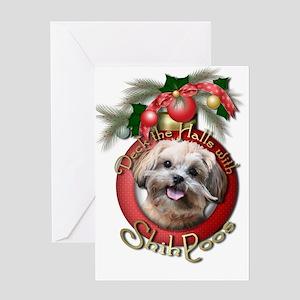 Christmas - Deck the Halls - ShihPoos Greeting Car