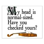 """""""Normal-sized Head"""" Violist Small Poster"""