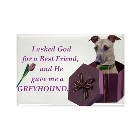 Greyhound (Brindle) Rectangle Magnet