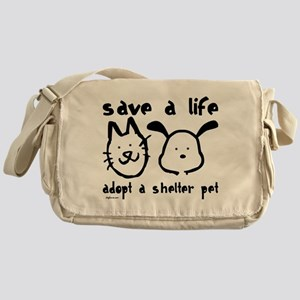 Save a Life - Adopt a Shelter Messenger Bag