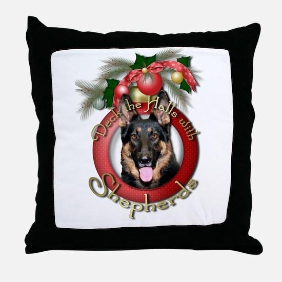 Christmas - Deck the Halls - Shepherds Throw Pillo
