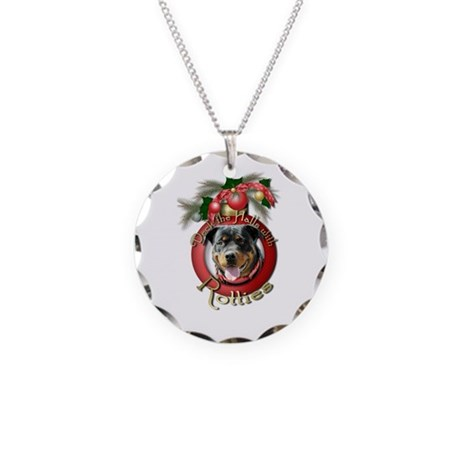 Christmas - Deck the Halls - Rotties Necklace Circ