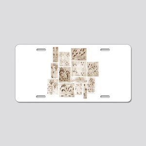 Animal Tracks Collage Aluminum License Plate