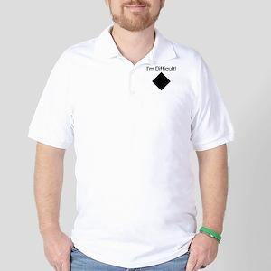Im-Difficult-black Golf Shirt