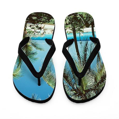 White Beach Flip Flops