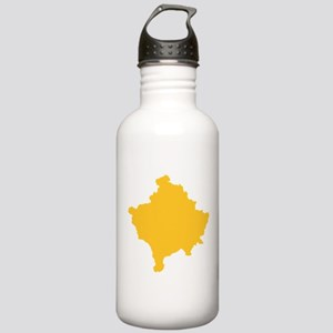 Kosovo Map Yellow Stainless Water Bottle 1.0L