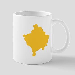 Kosovo Map Yellow Mug