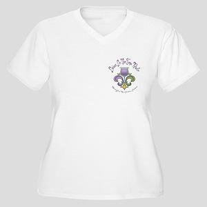 Fleur de Lush Women's Plus Size V-Neck T-Shirt