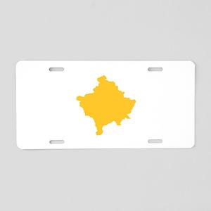 Kosovo Map Yellow Aluminum License Plate