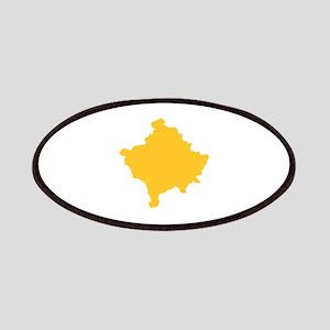 Kosovo Map Yellow Patches