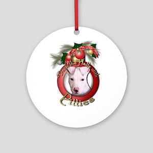 Christmas - Deck the Halls - Pitbull Ornament (Rou