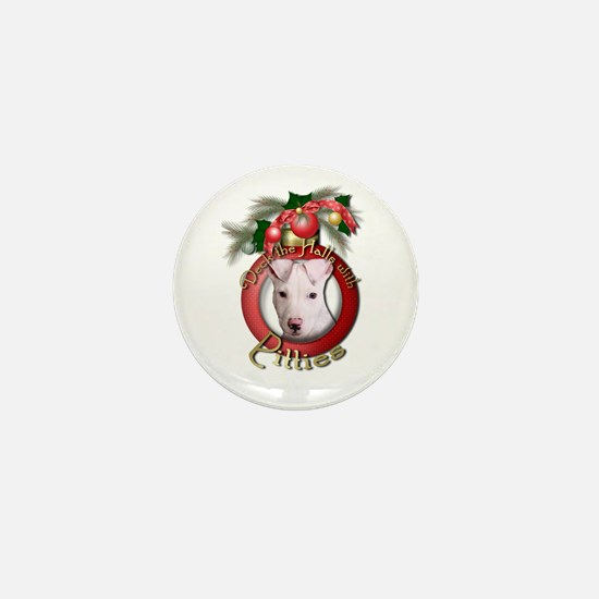 Christmas - Deck the Halls - Pitbull Mini Button