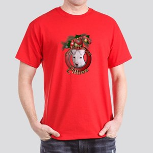 Christmas - Deck the Halls - Pitbull Dark T-Shirt