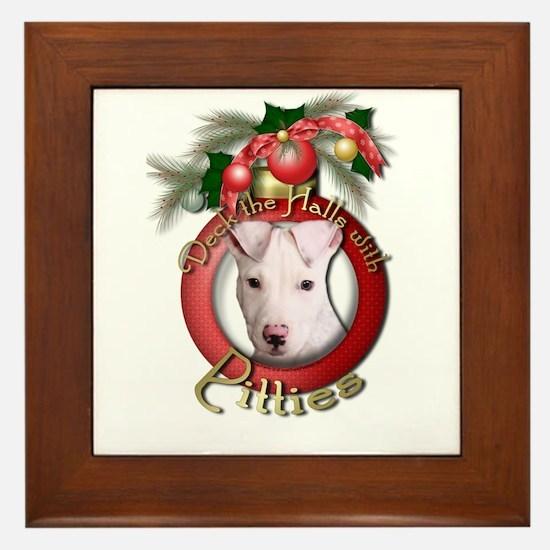 Christmas - Deck the Halls - Pitbull Framed Tile