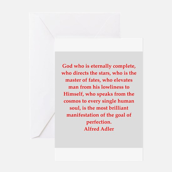 Alfred Adler quotes Greeting Card