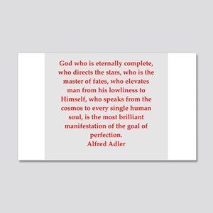Alfred Adler quotes 22x14 Wall Peel