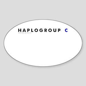 Haplogroup C Oval Sticker