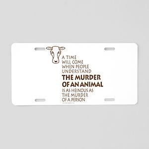 Veganism / Vegetarianism Aluminum License Plate