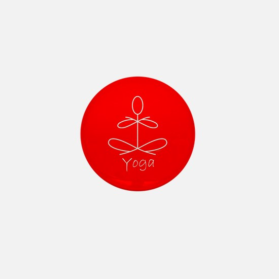 Yoga in Red Mini Button
