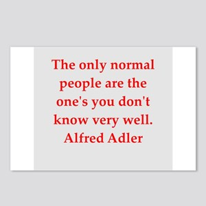 Alfred Adler quotes Postcards (Package of 8)