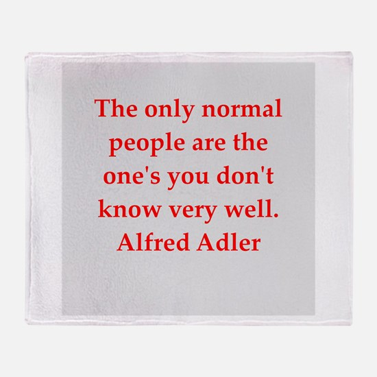 Alfred Adler quotes Throw Blanket
