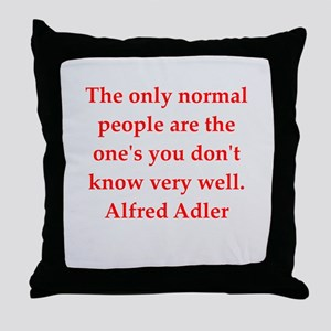 Alfred Adler quotes Throw Pillow