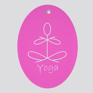 Yoga in Pink Ornament (Oval)