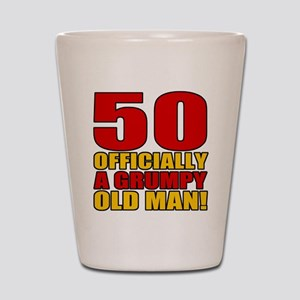 Grumpy 50th Birthday Shot Glass