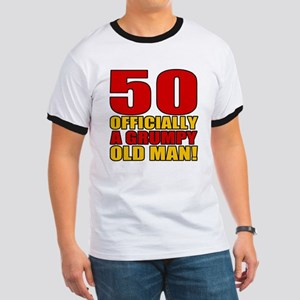 Grumpy 50th Birthday Ringer T