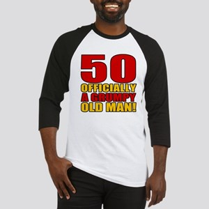 Grumpy 50th Birthday Baseball Jersey